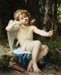 """""""Las flechas de Cupido"""", por Leon Bazile Perrault (1882)"""